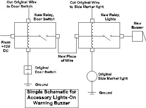 Lights warning buzzer how to library the mg experience simple schematic for accessory lights on warning buzzer asfbconference2016 Choice Image