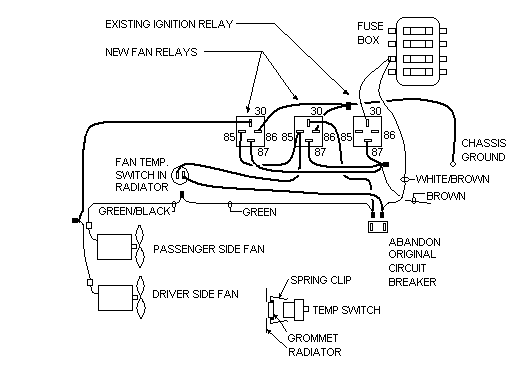 1980 mgb radiator fan relay switches diagram