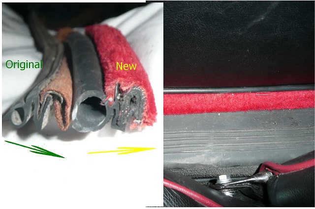 Original MGB Door Seals vs New Profile