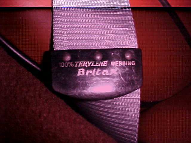 Early MGB Britax lap seat belts
