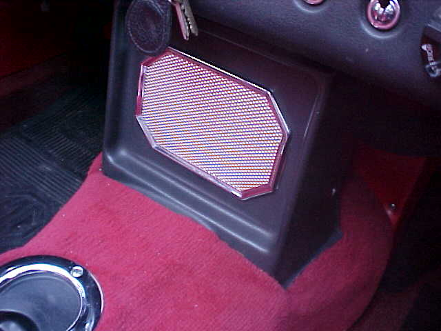 Early MGB Tunnel Carpet Fitment at the Speaker Housing