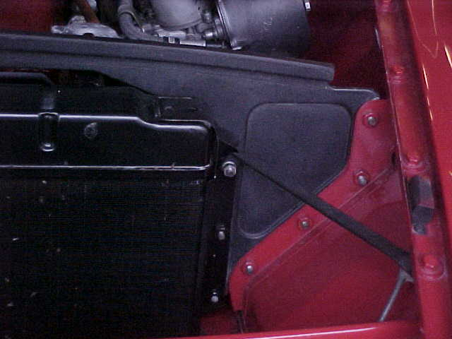 Early MGB solid radiator surround