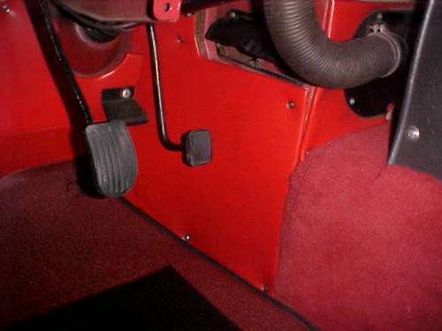 Early MGB Footwell and Toeboard Coverings