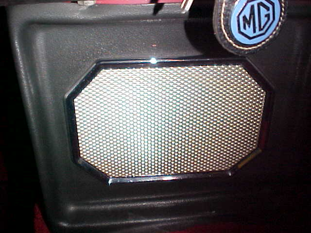 Early MGB speaker grille cloth