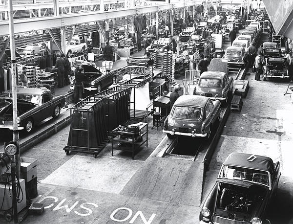 MGB MG Sprite Assembly Lines Circa 1965 68