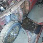 Drivers side fender wow look at the rust