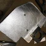 Here is the heat shield with fiberglass mesh heat