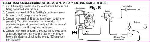 air horn relay wiring question mgb  u0026 gt forum mg