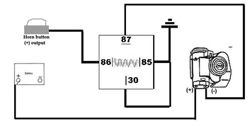 air horn relay wiring question mgb gt forum mg. Black Bedroom Furniture Sets. Home Design Ideas