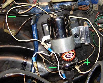 flamethrower coil wiring (are my connections wrong?) mgb electronic ignition coil wiring diagram mgb starter wiring diagram wiring diagram