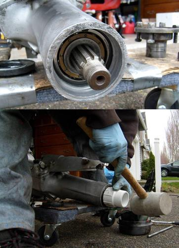 Non-OD tailshaft without flange or seal and Installation of new seal - Spring 2010 - Danthefitman.jpg