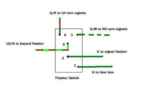 mg turn signal wiring diagram hazard warning switch  1968 mgb  mgb   gt forum mg experience  hazard warning switch  1968 mgb  mgb