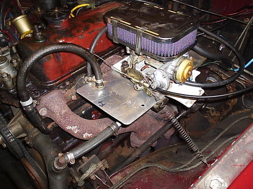 Exhaust Heat Wrap >> Weber DGV Overheating? : MGB & GT Forum : MG Experience Forums : The MG Experience