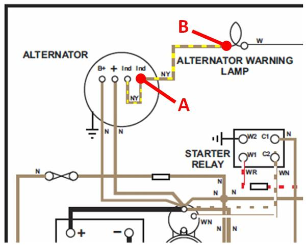 Alt_Schematic system is charging alternator light won't go out mgb & gt lucas 16 acr alternator wiring diagram at n-0.co