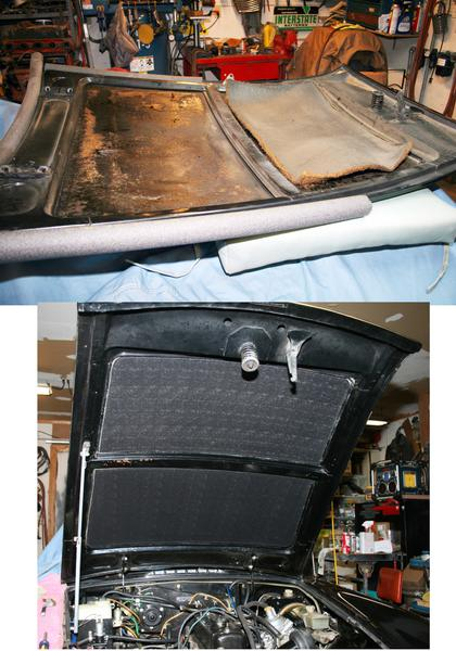 Under Hood Insulation What Adhesive Mgb Amp Gt