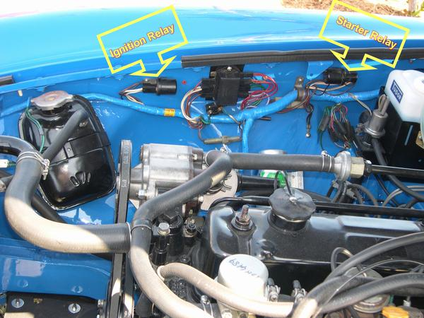 relay_location turn ignition switch not even a click! mgb & gt forum mg mgb starter relay wiring diagram at soozxer.org