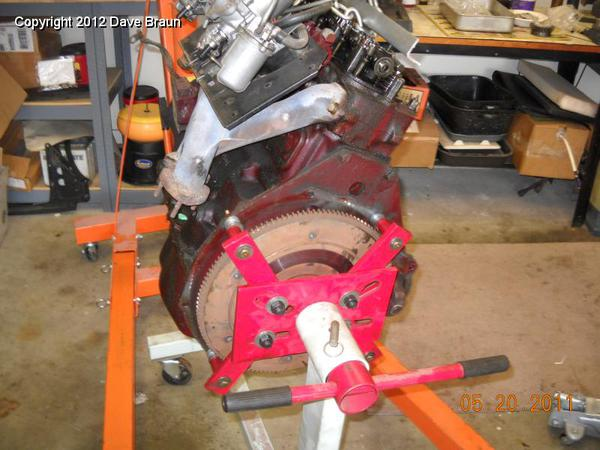 Beating my head against the wall, engine stand is too big for MG engine! : MGB & GT Forum : MG ...