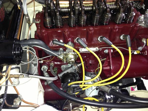 IMG_0921 oil pressure gauge flexible line to block fitting mgb & gt forum 1980 mgb distributor wiring at edmiracle.co