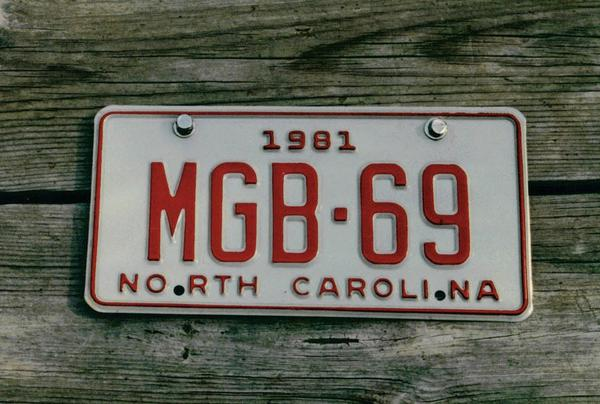 Personalized plate, vanity plate? : MGB & GT Forum : MG
