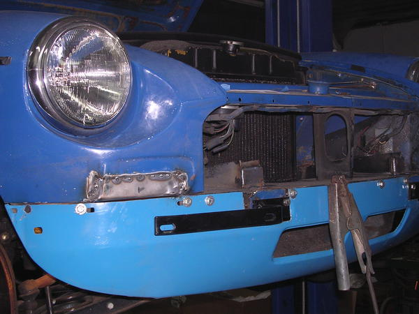 Chrome Bumper Conversion Progress Mgb Amp Gt Forum Mg