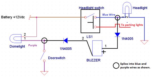 Even Simpler Headlight Warning Buzzer : MGB & GT Forum : MG