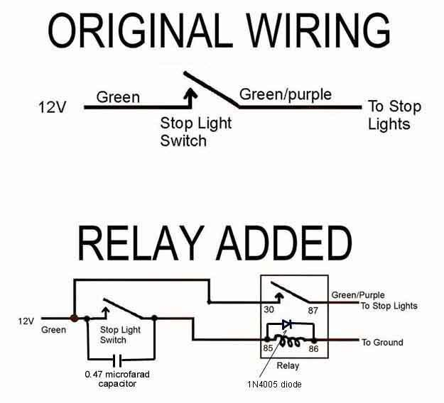 relay in brake light switch circuit mgb gt forum mg experience rh mgexp com Basic Wiring Light Switch 3-Way Switch Wiring 1 Light