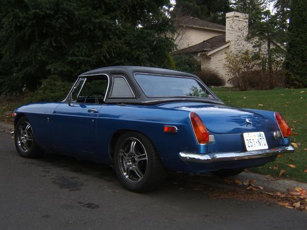 Old Blue 275H.P. V6 swap sidepipe nascar exhaust  rear profile.JPG