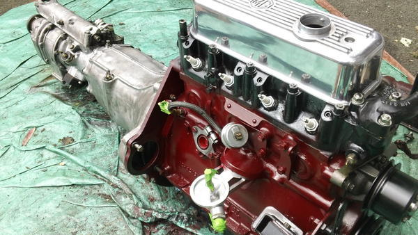 MGB engine and overdrive conversion  7-2013 002.JPG