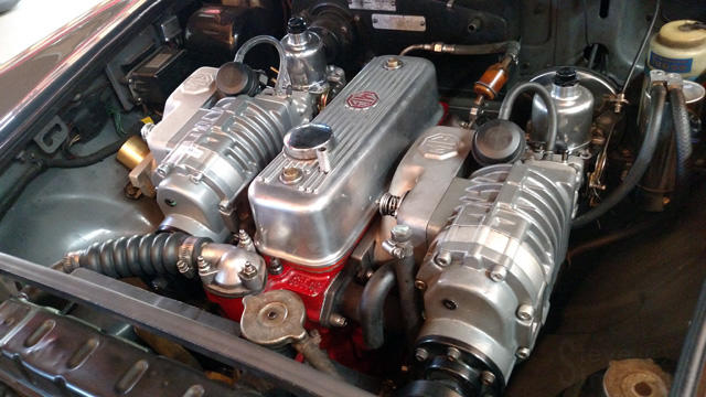 Twin Supercharger Project Complete : MGB & GT Forum : MG Experience