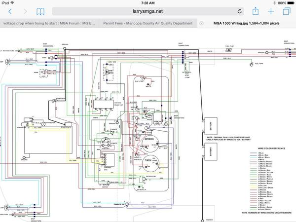 image voltage drop when trying to start mga forum mg experience 1958 mga wiring diagram at aneh.co