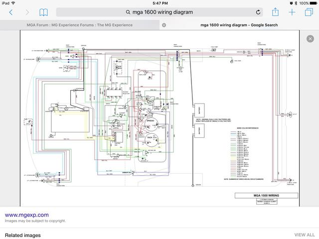 wiring of fuel gauge opps mga forum mg experience forums the rh mgexp com 1958 mga wiring diagram mga wire diagram