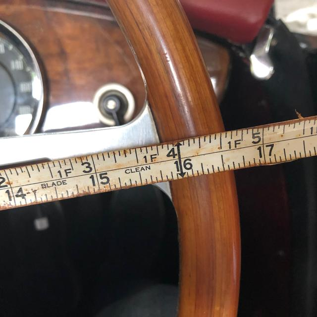 "MGA 15/"" Inch Astrali® Classic Wood Steering Wheel With Boss for MGA"