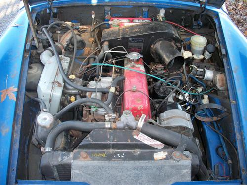 1976 midget 1500 before and after motor photos : MG Midget