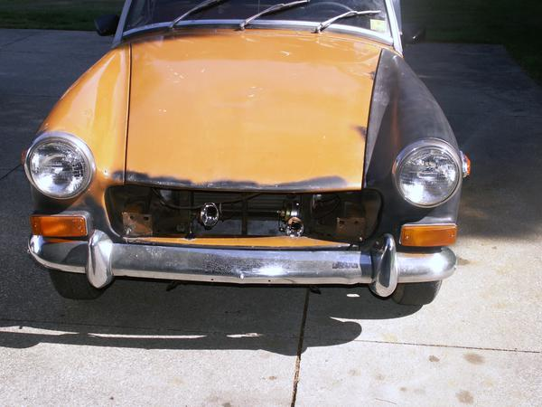 REMOVING '75 RUBBER BUMPER (Page 4) : MG Midget Forum : MG