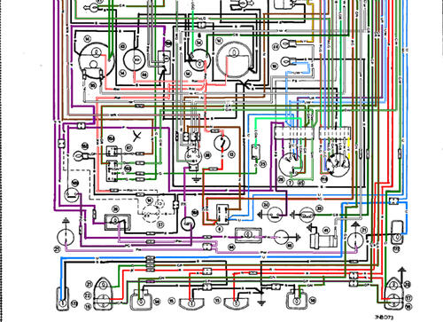 ENLARGED_WIRING_DIAGRAM_BOTTOM_COLORED wiring diagram mg midget forum mg experience forums the mg wiring diagram for 76 mg midget 1500 at fashall.co