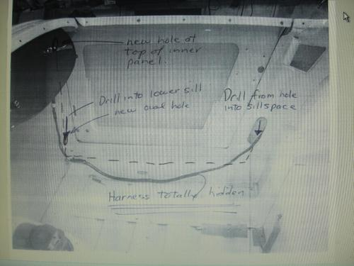 Routing Wiring Loom To The Rear Mg Midget Forum Mg