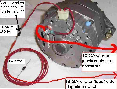 AlternatorHarness3 gm single wire alternator wiring mg engine swaps forum mg gm alternator wiring diagram at n-0.co