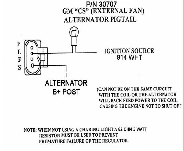 cs130 wiring diagram for a gm alternator the wiring diagram 4 of an Alternator Wires at readyjetset.co