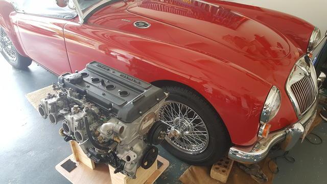 MGA with a Toyota 18RG : MG Engine Swaps Forum : MG Experience