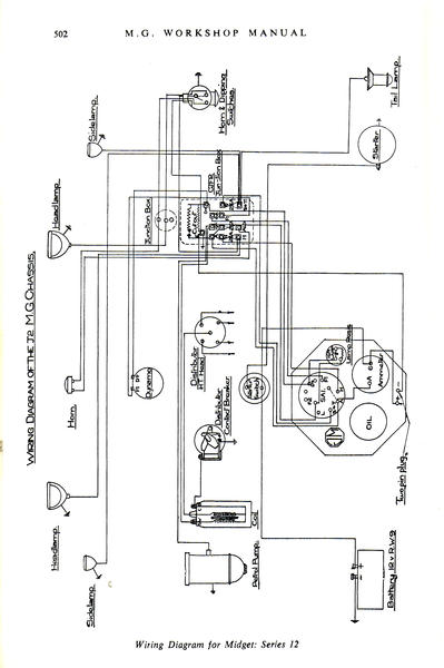 1932 mg j2 electrical system : t-series & prewar forum : mg, Wiring diagram