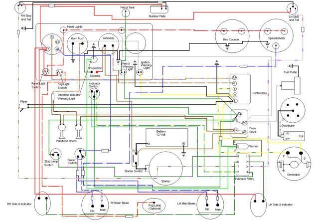 Marked Mg Td Wiring Harness - Aspects of Wiring and Circuits on mg td chassis, mg td heater, mg td frame, mg td turn signals, mg td dimensions, mg td speedometer, mg td clock, mg tf wiring diagram, mg td specifications, mg td manual, mg td distributor, mg td transmission, mg td parts catalog, mg td wiring harness installation, mg td wiper motor, mg td headlights, mg td rear suspension, mg td generator, mg td cooling system,