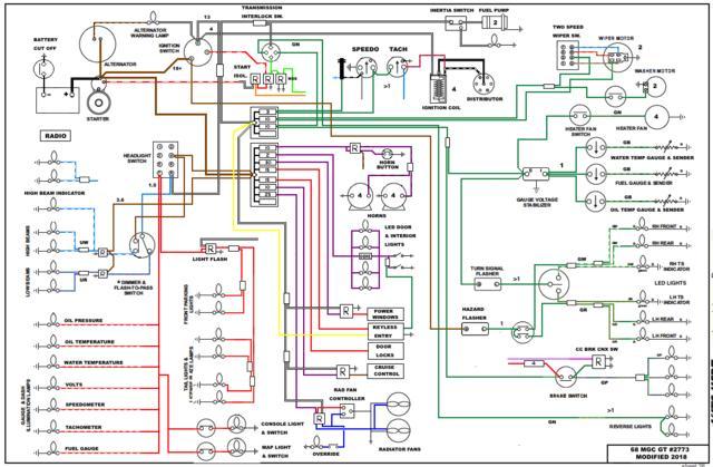 mgc wiring schematic rewiring my  68 c v2 0 mgc forum mg experience forums the mg  rewiring my  68 c v2 0 mgc forum mg