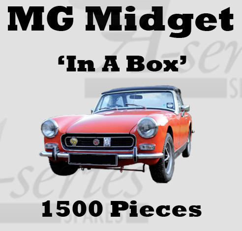 MG Midget Sprite Bonnet fitting Kit Stainless Steel .