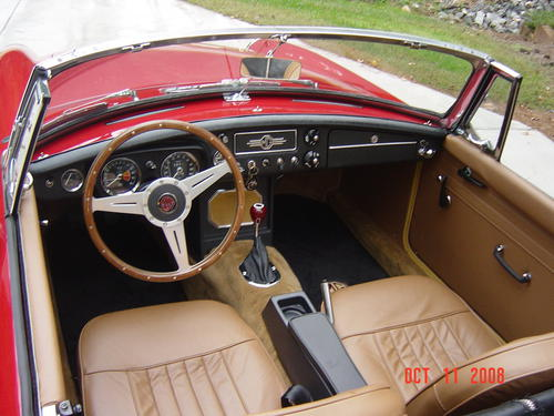 any pics of a red car with tan interior mgb gt forum mg experience forums the mg experience. Black Bedroom Furniture Sets. Home Design Ideas