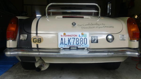 Third brake light and 3 watt Cree reverse light  1971 Bedouin MGB 001.JPG