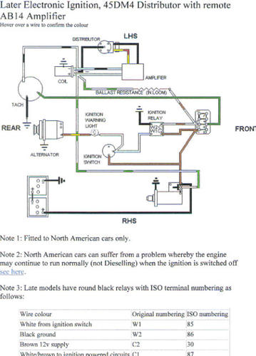 1980 CEI ignition diagram??? : MGB & GT Forum : MG Experience Forums