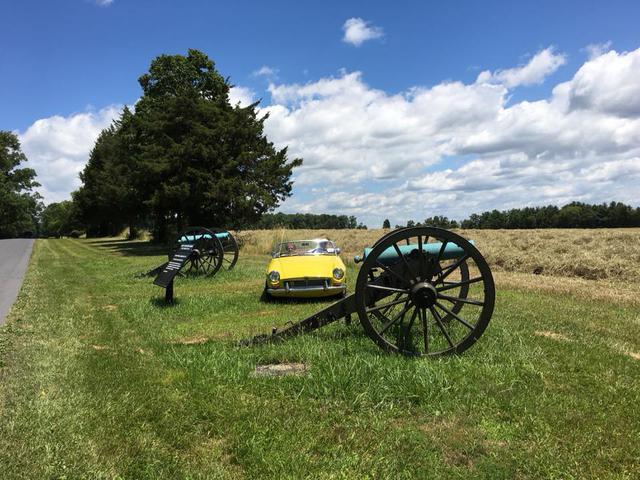 Gettysburg cannon and MGB.jpg