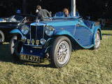tom metcalf 1935 MG N type Magnette duo blue