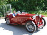 tom metcalf 1948 MG TC Emgee Red