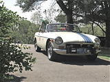 Ken Olszewski 1974 MG MGB Old English White w Blue strip